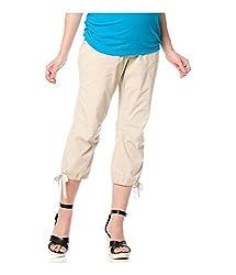 Motherhood Womens Secret Fit Belly Casual Convertible Pants beige M/21