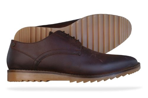 Base London Hendrix Mens Leather Shoes - Brown - SIZE US 7.5