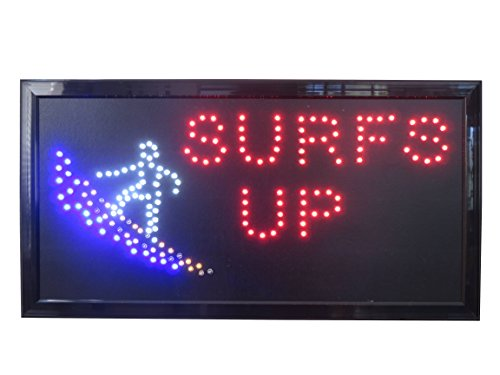 19x10 Neon Sign LED Lighting - Single Switch: Power for Business Identification by Tripact Inc - Surfs Up