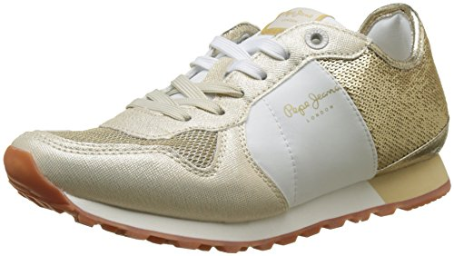 Pepe Jeans London Damen Verona W Sequins Sneaker Gold (Gold)