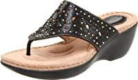 Clarks Women's land Dazzle Thong Sandal by Clarks