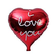NUOLUX 18inch Love Heart Foil Balloon I LOVE YOU Mylar Balloons for Valentin's Day Engagement Wedding Party Decoration