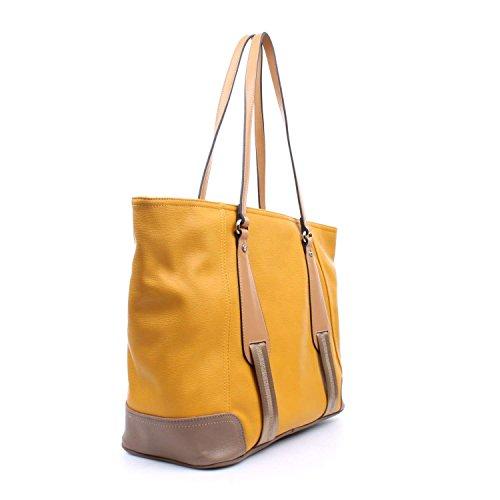 """La Martina - Shopping bag La Martina """"New Martinez - Giallo/Cuoio - W1505.GIALLO - Giallo/Cuoio - UNICA"""