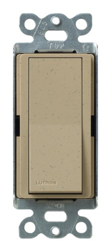 - Lutron Claro On/Off Switch, 15-Amp, Single-Pole, SC-1PS-MS, Mocha Stone
