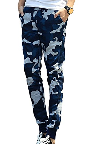 Rita.MK Men's Camouflage Jogging Pants Harem Sweatpants Casual Pants (Mens Xs Sweatpants)