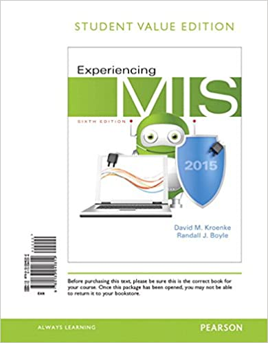 Experiencing mis student value edition 6th edition david m experiencing mis student value edition 6th edition david m kroenke randall j boyle 9780133940312 amazon books fandeluxe Choice Image