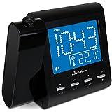 Electrohome EAAC601 Projection Alarm Clock with AM/FM Radio, Battery Backup, Auto Time Set, Dual Alarm, Nap/Sleep...