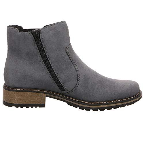 Rieker Jeans 14 Botines Z6885 Bleu Altsilber Femme 4Z6r4x8w