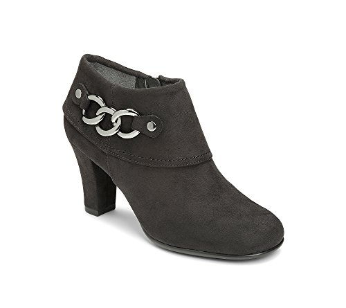 Aerosoles Women's First Role Ankle Boot Black Faux Suede