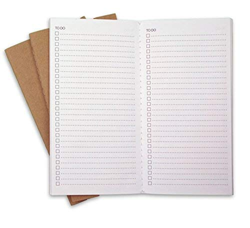 """To Do Checklist Travelers Notebook Journal Refills by RICCO BELLO, 8.25"""" x 4.25"""" (Set of 3)"""