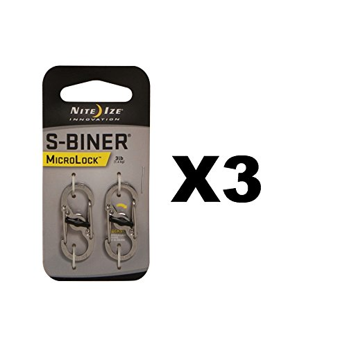 Nite Ize Microlock S-Biner Locking Stainless Steel Carded by Nite Ize