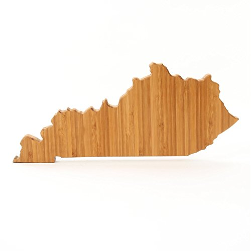 Cutting Board Company Kentucky Shaped Cutting Board, Bamboo Cheese Board ()
