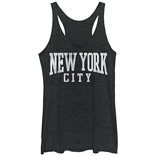 Chin up Women's Classic New York City Black Heather Racerback Tank Top -