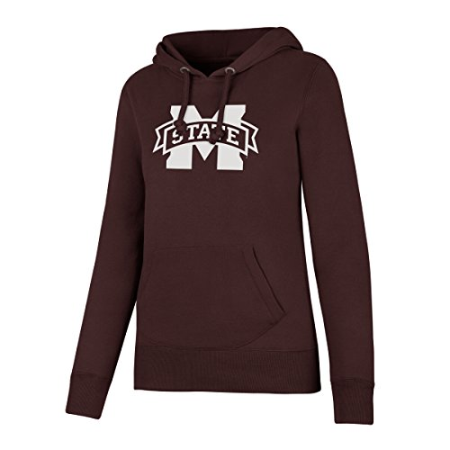 - NCAA Mississippi State Bulldogs Women's Ots Fleece Hoodie, X-Large, Dark Maroon