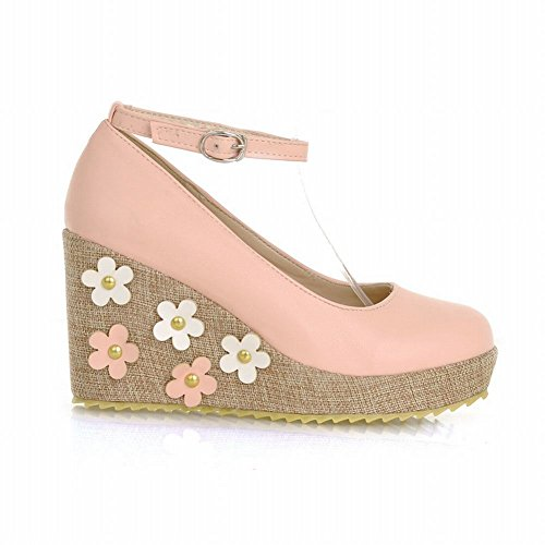 Lolita Buckle Applique Cuff Heel Jane Carol Shoes Sweet Style Chic Shoes Wedge Mary Womens Pink Pumps qXwSI0