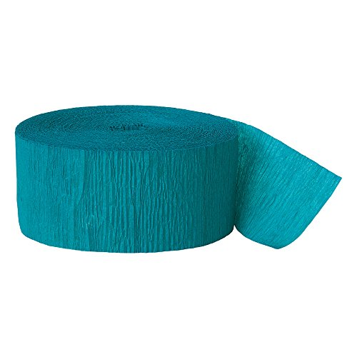81ft Teal Green Crepe Paper - Gras Mardi Shower Bridal