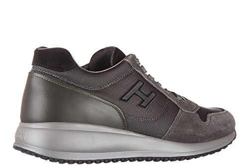 Grigio h Nuove Scarpe Sneakers Flock Uomo Hogan n20 Interactive Camoscio PBZFwSxqC