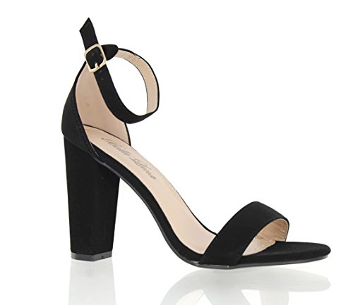 Picture of Urban Heel Women's Strappy Open Toe Slingback Chunk Heel Sandal