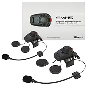 Sena SMH5-01 Low-Profile Motorcycle and Scooter Bluetooth Headset / Intercom (Dual)