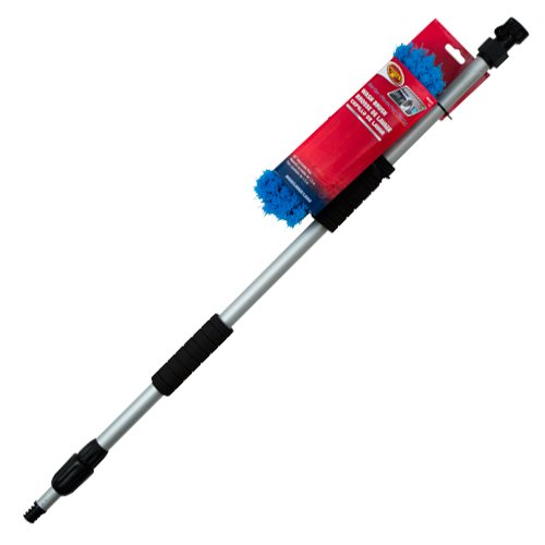 - Detailer's Choice 4B369 Flow-Thru Vehicle Wash Brush with 60-Inch Telescoping Handle - 1-Each