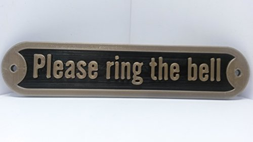 (Medallurgy Please Ring The Bell Faux Brass Door Sign. Traditional Style Home Décor Wall Plaque Handmade)