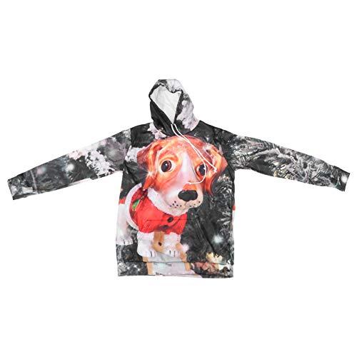 VALICLUD Unisex Kerst Sweatshirt Realistische 3D Print Xmas Pullover Shirt Hoodies Kerstfeest Gunsten Stijl 2