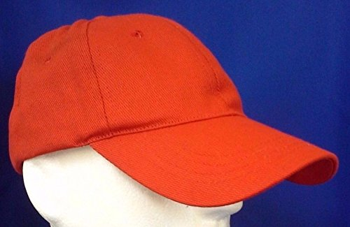 Candy Red Plain Solid Cotton Style Baseball Ball Cap Caps Hat Women Adjustable ()