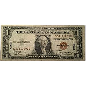 1935 A $1 One Dollar Hawaii SILVER CERTIFICATE Brown Seal Note