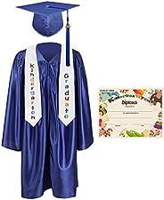 GraduationMall Kindergarten Graduation Cap Gown Stole Package with 2020 Tassel, Certificate