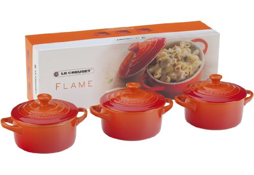 Le Creuset Stoneware Petite Round Casserole Gift Set, Flame