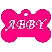 Custom Engraved Pet ID Tag Pendant Rose