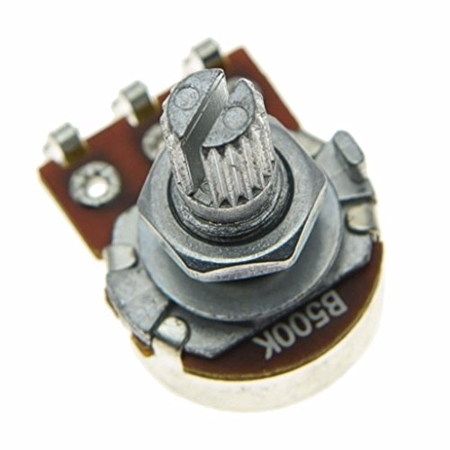 Dopro 10pcs Linear Guitar Pots Volume 500K Electric Guitar Mini Pots 16mm Base with Short Split Shaft Guitar Potentiometer B500K