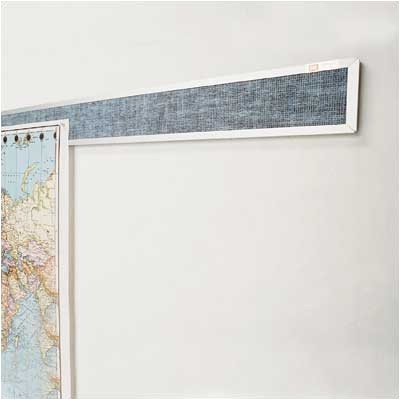 Vinyl Covered Display Rails - Aluminum Frame Color: Natural Cork, Size: 3