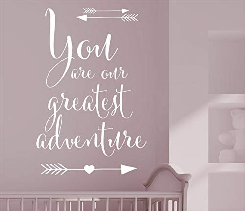 Wall Stickers Art DIY Removable Mural Room Decor Mural Vinyl You are Our Greatest Adventure for Nursery Kids Room