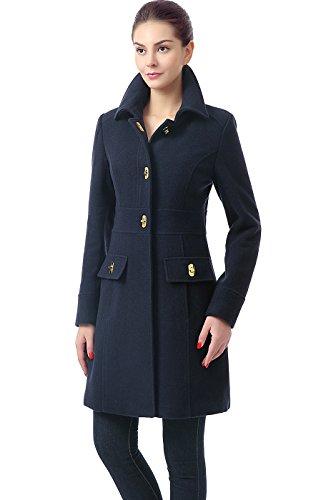 BGSD Women's 'Taylor' Wool Blend Walking Coat - Navy S