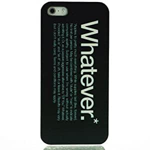 LIMME Whatever Pattern Hard Case for iPhone 5/5S