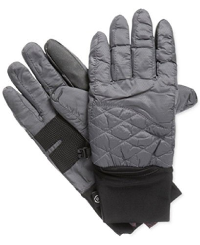 Glove Signature Womens (Isotoner Signature SmarTouch Packable Ski Tech Gloves in Charcoal Grey (Large / X-Large))