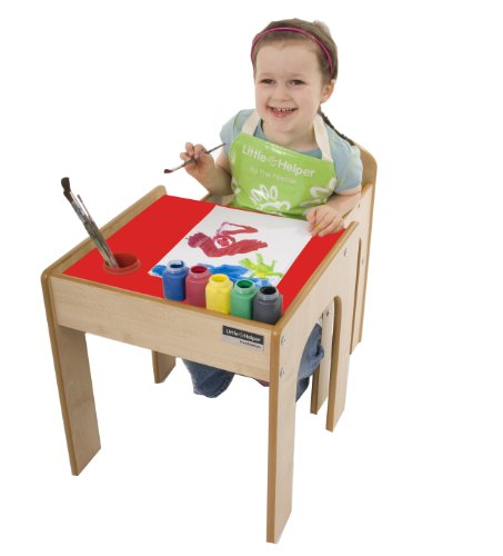 Little Helper FunStation Toddler Table and Chair Set (Maple/Red)