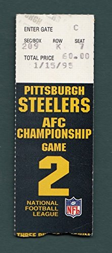 1995 AFC Championship Ticket Stub Pittsburgh Steelers San Diego Chargers 128435