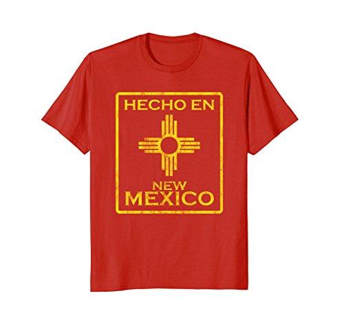 Mens New Mexico tshirt Zia symbol Hecho en New Mexico XL (Symbol New T-shirt)