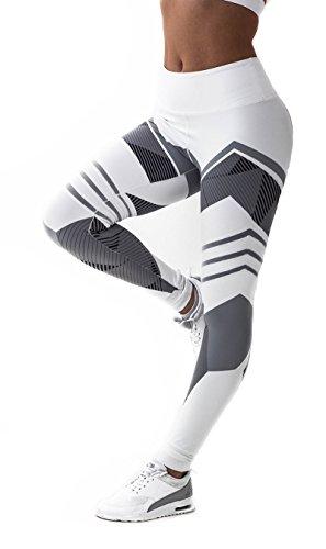 fb33cb85e90 CFR Women s Fitness Leggings High Waist Sport Workout Yoga Pants NEW  Geometry Print