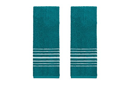 (Now Designs Hang Up Kitchen Towels, Set of Two, Peacock)