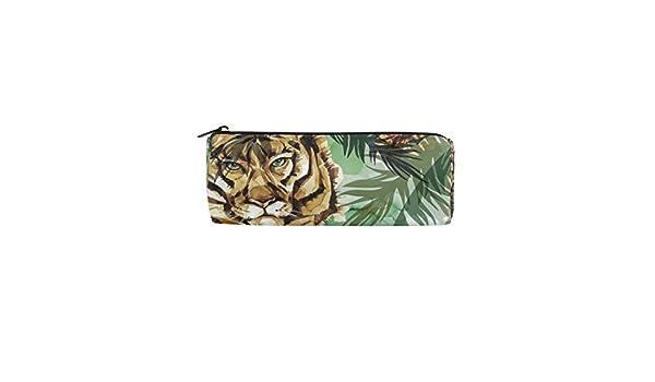 Tiger - Estuche para lápices tropicales con cremallera ...