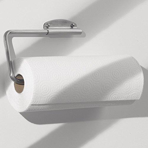 interdesign swivel kitchen paper towel holder wall mount under cabinet chrome ebay. Black Bedroom Furniture Sets. Home Design Ideas