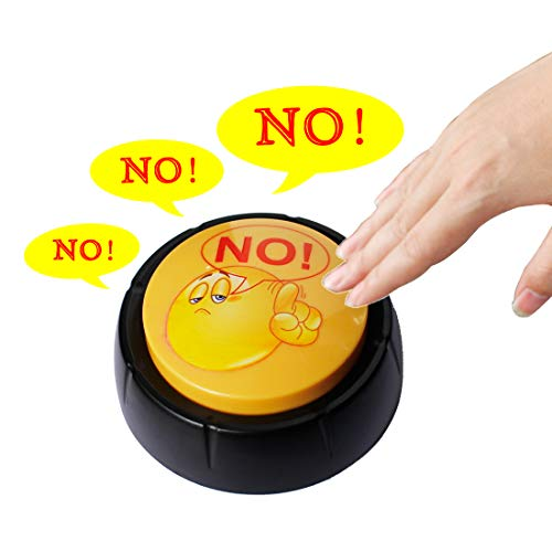GREATCHILDREN 10 Mode Say NO Button Toy,Bullshit Button,Joke Gifts,Funny Gag Gift,Unique Gifts for Kids -