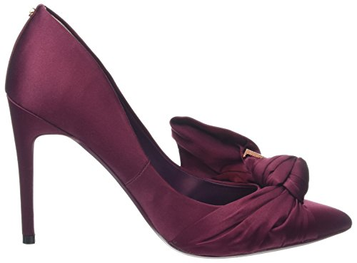 Rouge Baker burgundy Femme Escarpins Bout Dorabow Ted Fermé PqOZ6a
