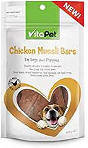 Vita Pet Chicken Muesli Bars, Dog Treats, for Adultl Dogs and Puppies, 100g
