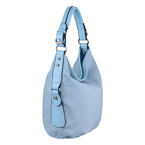 Cm Ca Obc Para beautiful De Schwarz Azul Negro Bolso 42x32x16 bxhxt couture Tela Only Mujer Ywx7rFqYP