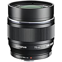 Olympus M.ZUIKO DIGITAL ED 75mm f1.8 (Black) Lens for Olympus and Panasonic Micro 4/3 Cameras  - International Version (No Warranty)