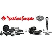 Rockford Fosgate HD14-TKIT Front Audio Kit for Harley-Davidson Street Glide (2014+) and Road Glide (2015+) with Rockford Fosgate TMS69 Power 6x9 Full Range Bag Lid Speakers and a SOTS Lanyard